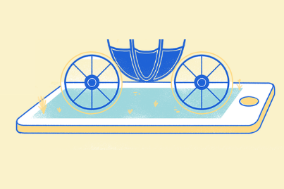 royal carriage on a smartphone